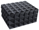 Design Humidor schwarz matt Polymerbefeuchter