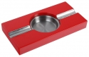 Pianolack Zigarrenascher Stainless Steel red