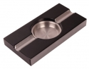 Pianolack Zigarrenascher Stainless Steel black
