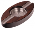 Pianolack Zigarrenascher Stainless Steel oval Wood