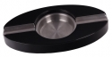 Pianolack Zigarrenascher Stainless Steel oval black