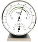Fischer Wohnklima-Hygrometer mit Thermometer Edelstahlsockel