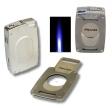 Xikar Ultra Feuerzeug mit abnehmbarem Cutter Jetflamme silber