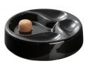 3er Pfeifenascher Keramik schwarz