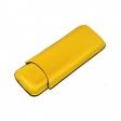 2er Zigarrenetui Leder Teleskop gelb