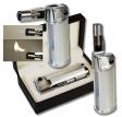 Formula Design Tischfeuerzeug mit Jet - Soft - Normalflamme silber