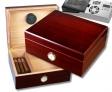 Cigar Oasis Ultra Rosewood Finish Humidor Hygro V-380