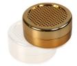Polymer - Humidorbefeuchter rund 5,6x2,5cm gold