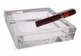 Glas Zigarren Aschenbecher 15x15cm neus Modell mit 4 Ablagen