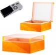 Cigar Oasis Ultra Humidor Pianolack Acrylglas Orange