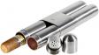 Adorini 2er Zigarrenetui Stahl - Satin/Zeder