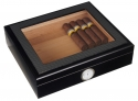 Humidor Sichtfenster Polymerbefeuchter Carbon-Black