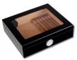 Humidor Black-Editon Sichtfenster Polymerbefeuchter