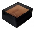 Humidor Pianolack Acrylglas Premiumbefeuchtung black
