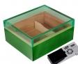 Cigar Oasis Ultra Humidor Pianolack Acrylglas Green