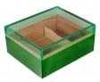 Humidor Pianolack Acrylglas Premiumbefeuchtung green