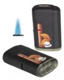 Atomic Doppel - Jetflamme-Feuerzeug - Sturmfeuerzeug Cigar-Aficionado 3D Druck