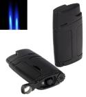 Xikar Element Double Jet Feuerzeug black Charcoal