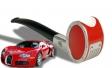 Bugatti Pfeife rot/chrom