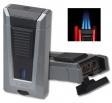 Colibri Feuerzeug Stealth Triple silber-schwarz metallic Laserflamme