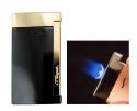 S.T. Dupont Feuerzeug Slim 7 Schwarz Golden Flat_Flame