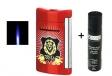 Set Dupont - Feuerzeug X-Tend-Minijet rot Wild inkl. Gas