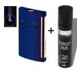 Set Dupont-Feuerzeug X-Tend Maxijet nachtblau glänzend inkl. Gas