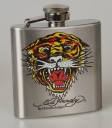 Ed Hardy Flachmann Stainless Steel 3 OZ Tiger