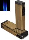 Doppel-Jet Zigarrenfeuerzeug - Zigarrenbohrer Schnappmechanik bicolor