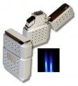 Tycoon Dots Doppel Jet Feuerzeug silber