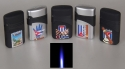 5 Stk Jetflamme-Feuerzeuge Kuba-Exclusive 3D Druck Sturmfeuerzeuge