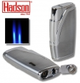 Hadson Zigarren-Feuerzeug Dualflamme Bachelor Chrom