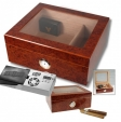 Cigar Oasis Ultra 2.0 Sichtfenster Klavierlack Humidor Hygro V-380