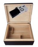 Cigar Oasis Ultra Airsystem Humidor Ebenholz Pianolack