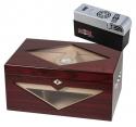 Cigar Oasis EXCEL Design-Humidor Kirschbaumfinish 100 Zigarren V-1320