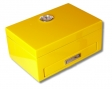 Yellow Humidor Klavierlack mit eingebautem Ascher, Cutter und Bohrer