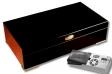 Cigar Oasis Ultra 2.0 Humidor Black-Edition mit Metallfüßen V-350