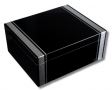 Pianolack-Humidor mit Carbon-Finish-Aplikation V-400