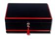 Secunda Passatore Humidor schwarz-rot Pianolack V-730