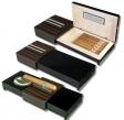 Humidor-Zigarrenascher Pianolack-Ebenholzfinish