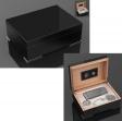 2.Wahl Luxus Humidor Geschenk Set Pianolack Noir Stainless Steel