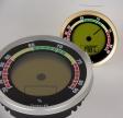 Caliber 4R Präzisions-Hygrometer +/-1 % RF silber