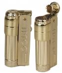 IMCO Feuerzeug Super-Triplex Oil Brass gold Schriftzug