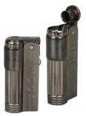 IMCO Feuerzeug Super-Triplex Oil Brass gunmetal Schriftzug