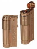 IMCO Feuerzeug Super-Triplex Oil Brass copper Schriftzug