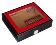 Kristallglas Humidor Red-Black Polymerbefeuchter