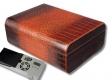 Cigar Oasis Ultra 2.0 Leder-Humidor Krokoprägung 2 Ebenen V-850