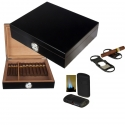 Humidorset LA Black Edition Hygro 30 Inkl. Polymerbefeuchter