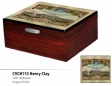 Lotus Humidor Pianolack Limited Edition 3D Cuban Vista Collection Henry Clay