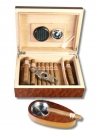 Madrona-Finish Humidor-Set Cigarrito V-210